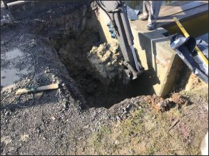 Digging Footings for new bridge